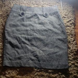 Grey Business Skirt